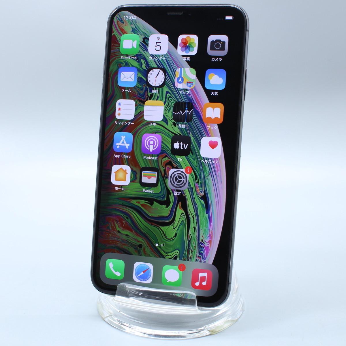 Apple iPhoneXS Max 256GB スペースグレイ A2102 MT6U2J/A バッテリ87%■ドコモ★Joshin7826【送料無料・1円】