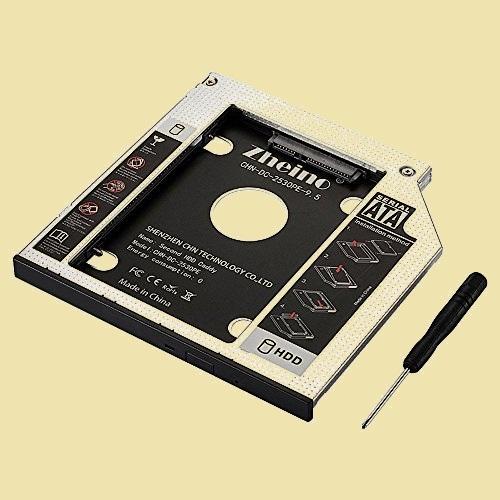 在庫残りあと僅か 2nd Zheino 3-Q8 CADDY に置き換えます 9.5mmノ-トPCドライブマウンタ セカンド 光学ドライブベイ用_画像1