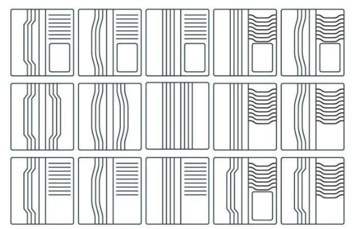 財布 万能型 レザークラフト用アクリル型型紙セット