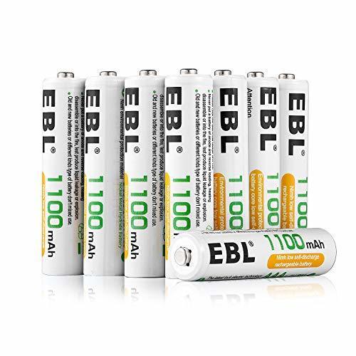 EBL 単4充電池 8個パック EBL 単4充電池 充電式 ニッケル水素充電池 8本入り 高容量充電池 1100mAhで長持ち_画像2