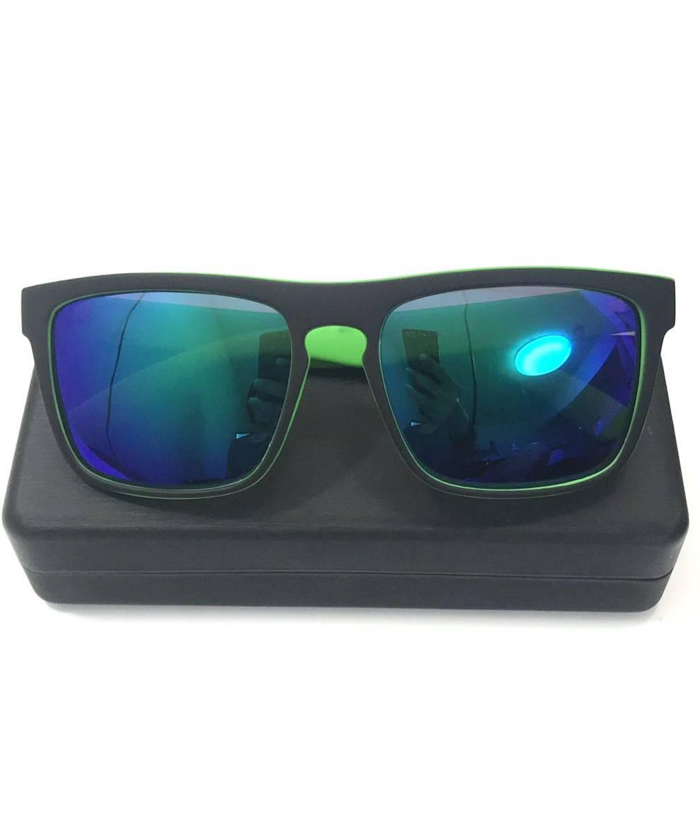 偏光サングラス フィッシング ブルー×グリーン インポート偏光サングラス 格安