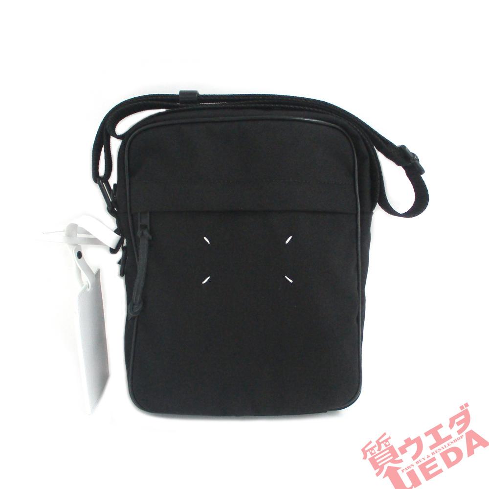【名古屋】メゾンマルジェラ カメラバッグ ショルダーバッグ クロスボディバッグ 1CON 11 ブラック 黒 ナイロン