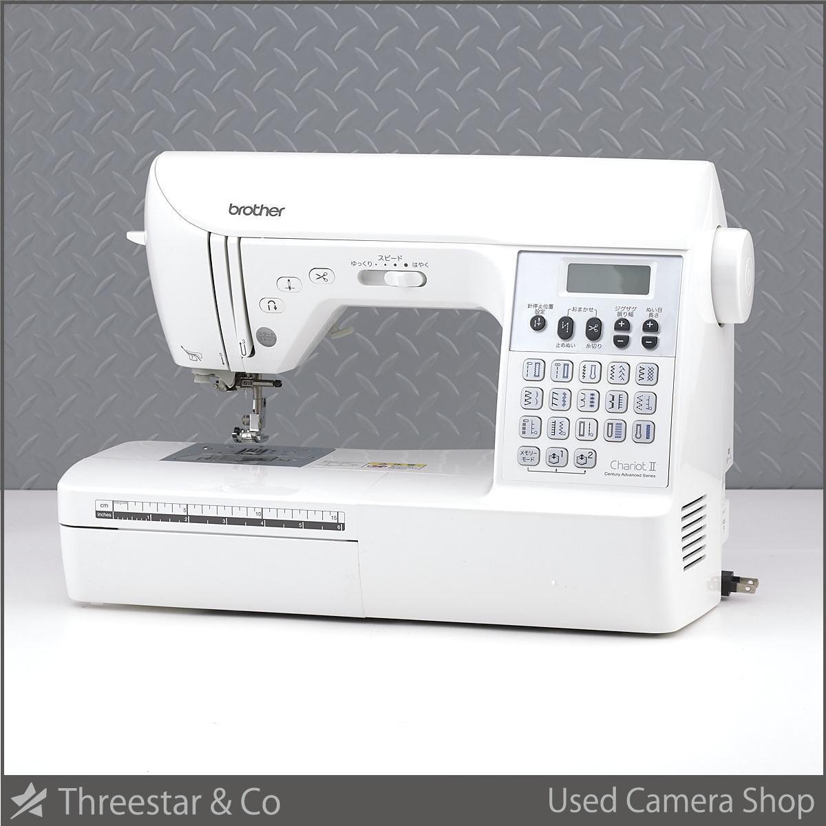 1円~ Brother ブラザー ミシン Chariot II (シャリオ II) CPS72 美品でオススメ エクストラテーブル フットコントローラー