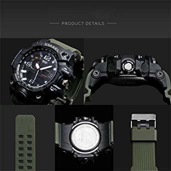 腕時計 メンズ SMAEL腕時計 メンズウォッチ 防水 スポーツウォッチ アナログ表示 デジタル クオーツ腕時計 多機能 ミリタ_画像5
