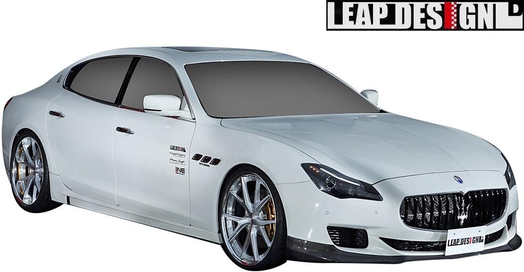 【M's】MASERATI Quattroporte (2013y-) LEAP DESIGN フロントスポイラー // CARBON カーボン 未塗装 リープデザイン エアロパーツ 外装_画像4