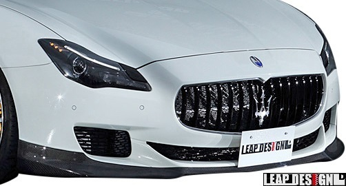 【M's】MASERATI Quattroporte (2013y-) LEAP DESIGN フロントスポイラー // CARBON カーボン 未塗装 リープデザイン エアロパーツ 外装_画像1
