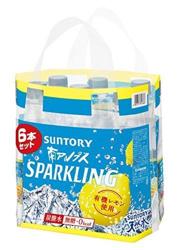 500ml×6本 [炭酸水]サントリー 天然水 南アルプススパークリングレモン 500ml×6本_画像2
