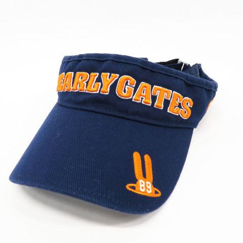 【即決】PEARLY GATES パーリーゲイツ 053-7187202 サンバイザー ネイビー系 FR [240001487450] ゴルフウェア メンズ_画像1
