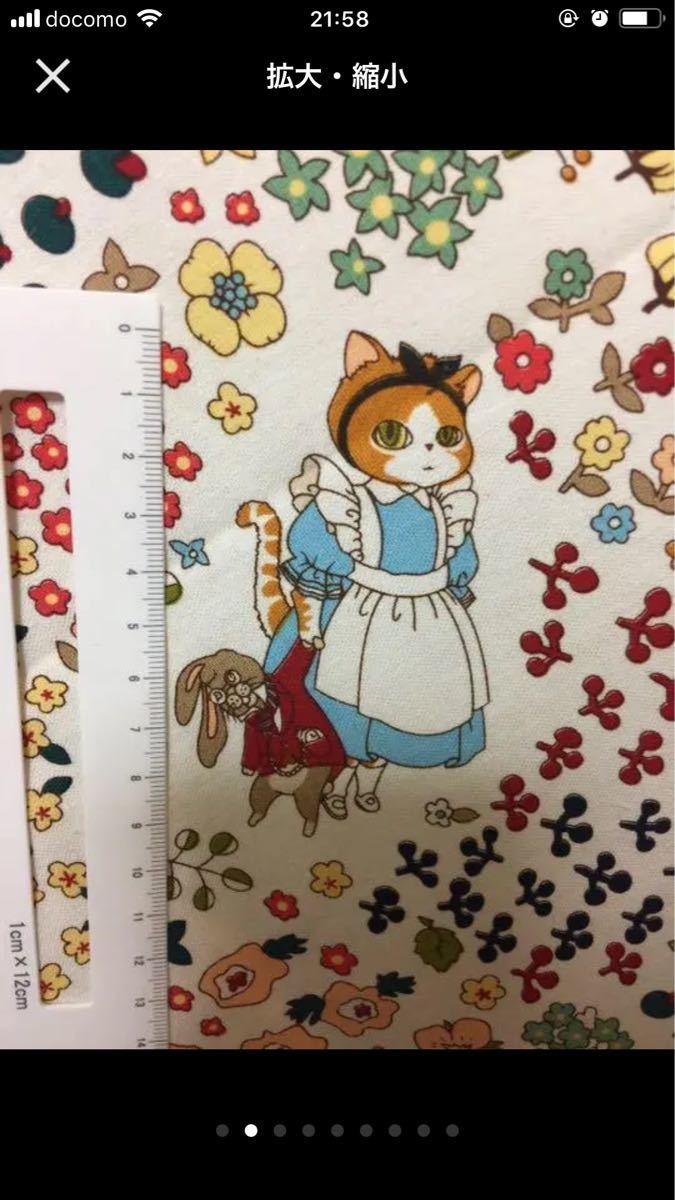 綿麻キャンバス 子猫達 縦50cm 横60cm単位