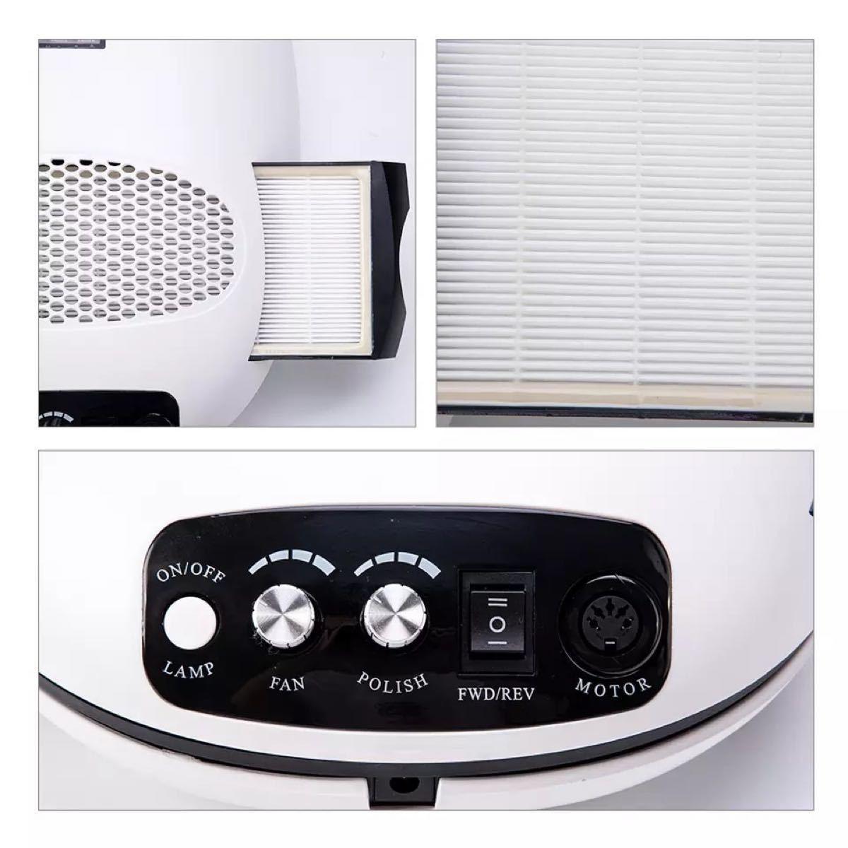 ネイルマシン 3in1 ネイルマシーン 多機能 ネイルライト ネイルドリル クリーナー 集塵機 甘皮処理 ジェルオフ ケア ビット