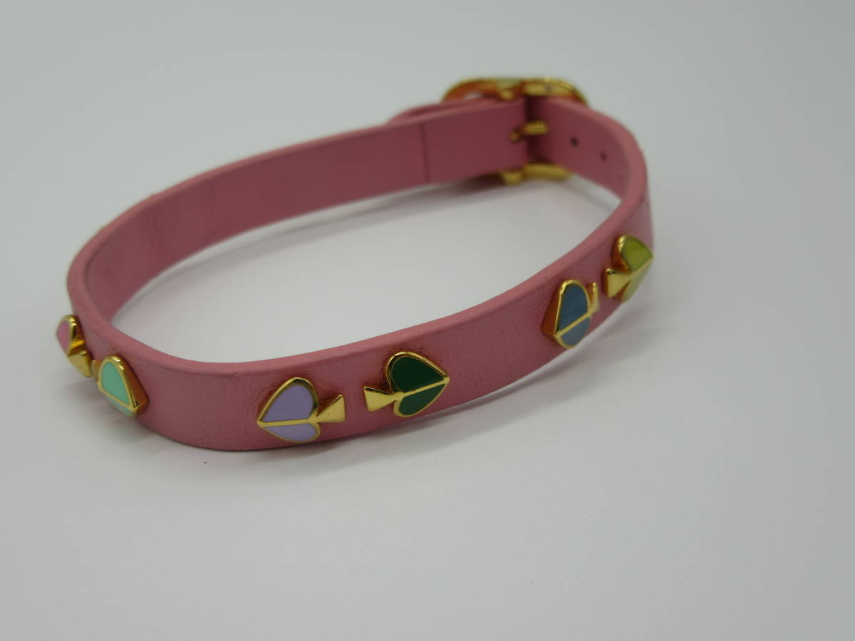 kate spade ブレスレット 全長約16~20㎝(穴6カ所あり) ピンク 中古品 ネ4-9A_画像7