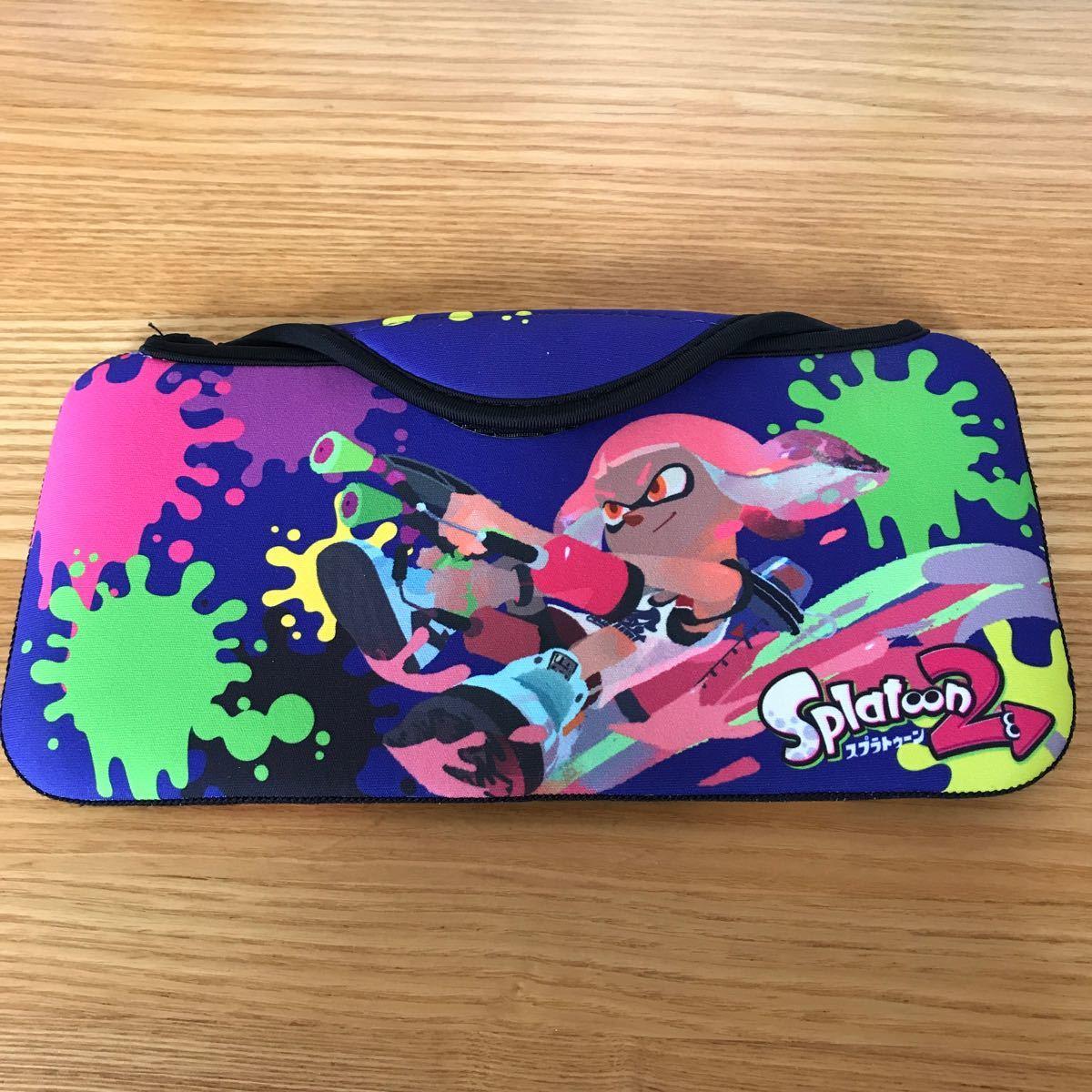 ニンテンドースイッチケース スプラトゥーン2 ケース Nintendo Switch 任天堂スイッチ ニンテンドースイッチ 任天堂