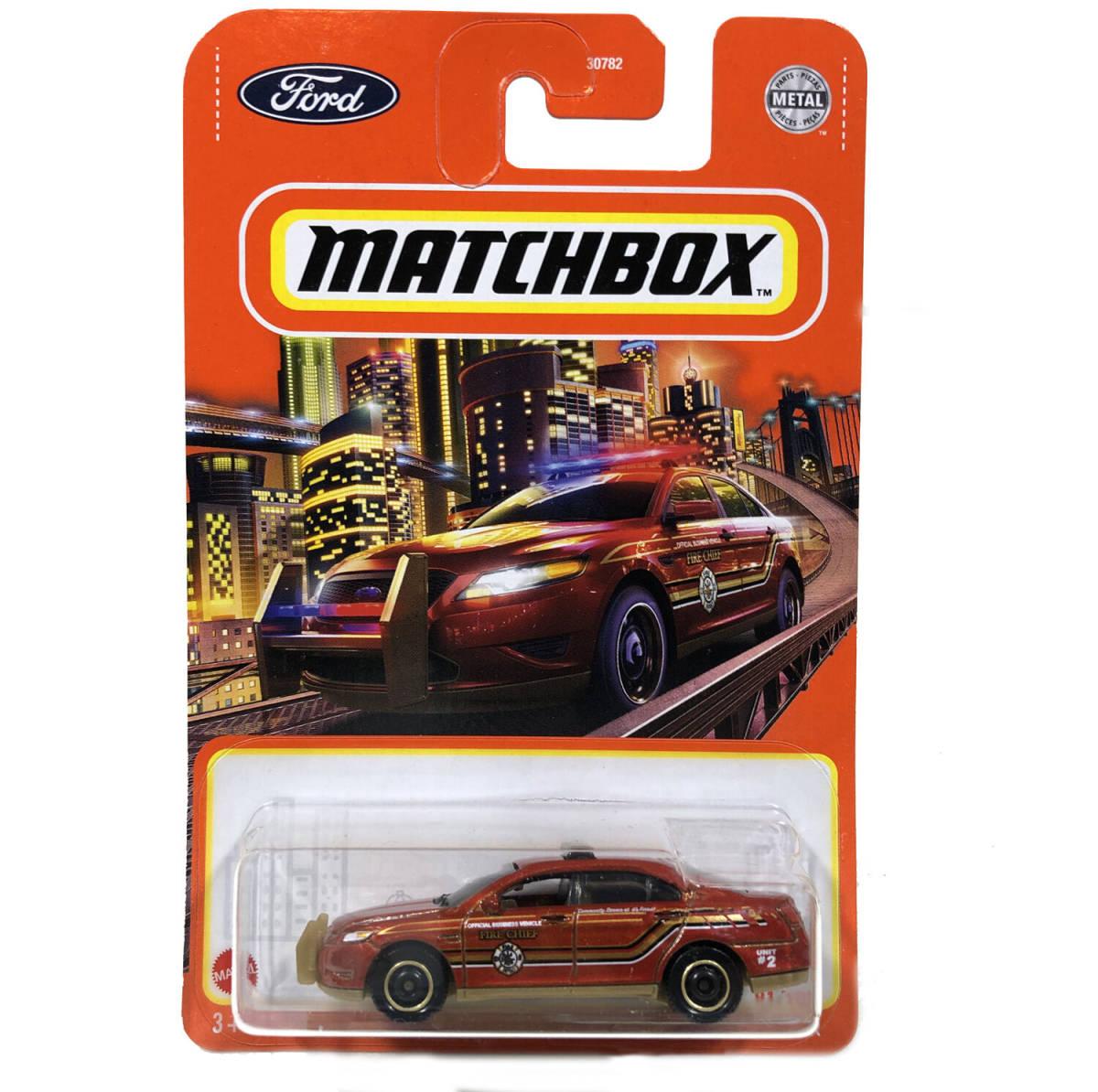 マッチボックス 2021 フォード ポリス インターセプター レッド Matchbox ベーシックカー_画像1