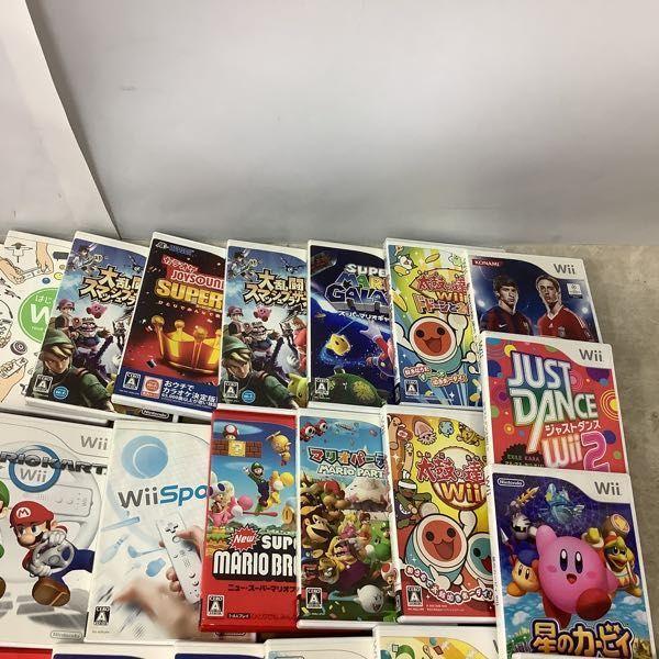 1円~ 訳あり Wiiソフト 星のカービィWii、マリオカートWii、式神の城III、大乱闘スマッシュブラザーズX他_画像3