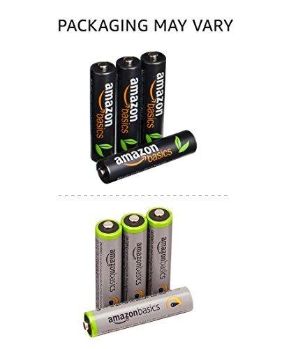Amazonベーシック 充電池 高容量充電式ニッケル水素電池単4形4個セット (充電済み、最小容量 800mAh、約500回使用_画像3