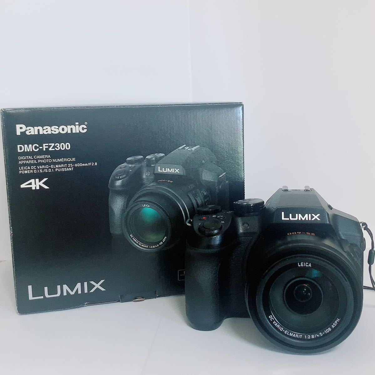 1スタ LUMIX(ルミックス) DMC-FZ300 4K コンパクトデジタルカメラ ブラック バッテリー2個付き Panasonic 箱付 中古