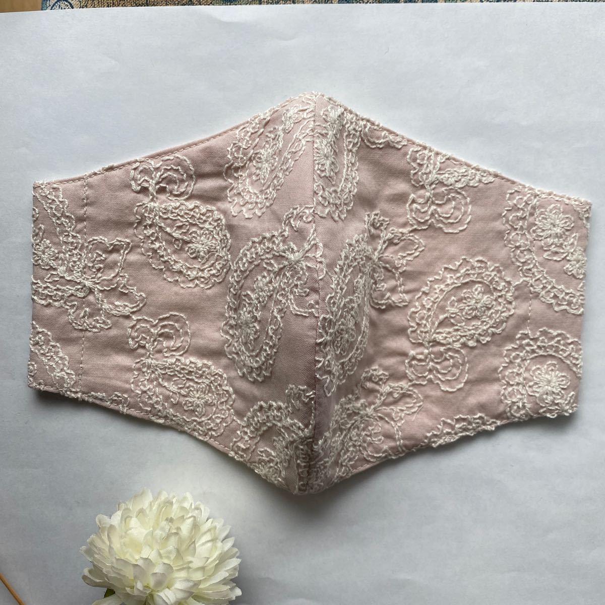 立体インナー ハンドメイド  ペイズリー柄 ピンク