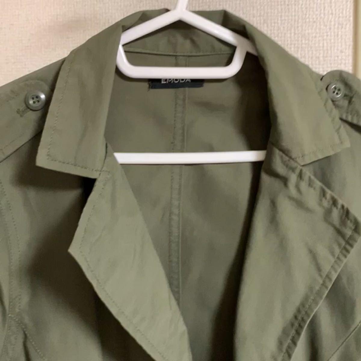 美品☆EMODAモッズコート ミリタリージャケット【カーキ色】Sサイズ