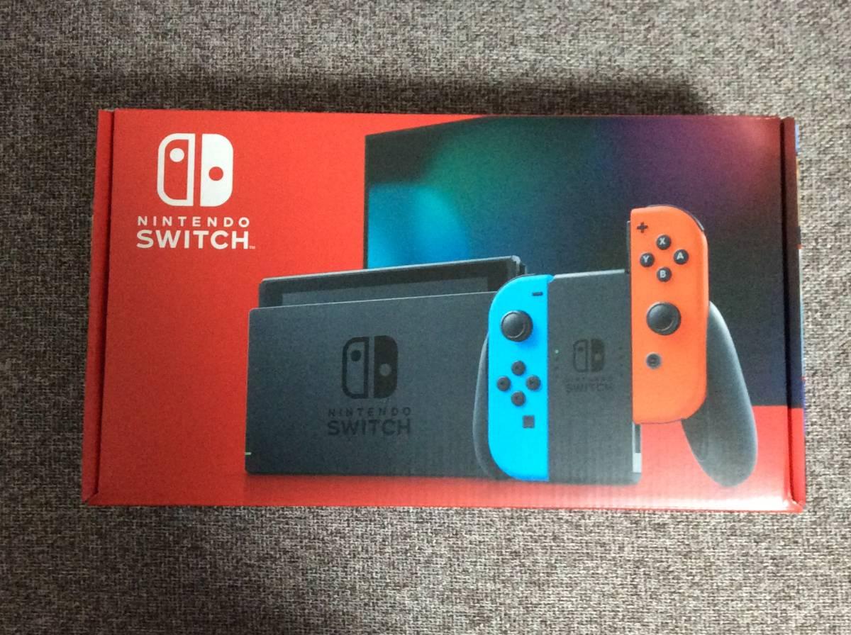 新品未開封品 Nintendo Switch 本体 (ニンテンドースイッチ) Joy-Con(L) ネオンブルー/(R) ネオンレッド_画像1