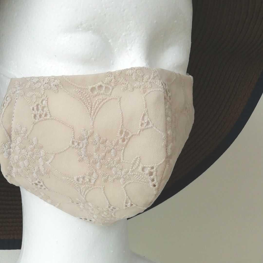 立体インナー インナーマスク 綿レース 刺繍 ハンドメイド