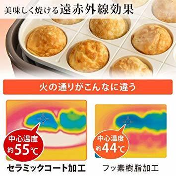 3)アッシュピンク アイリスオーヤマ ホットプレート 2WAY (たこ焼きプレート 平面プレート) ricopa アッシュピンク_画像3