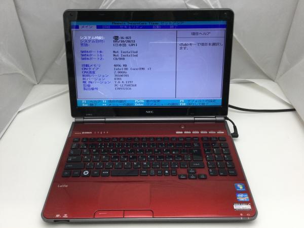 ジャンク!NEC PC-LL750ES6R○Core i7 2630QM 2.0G 4G