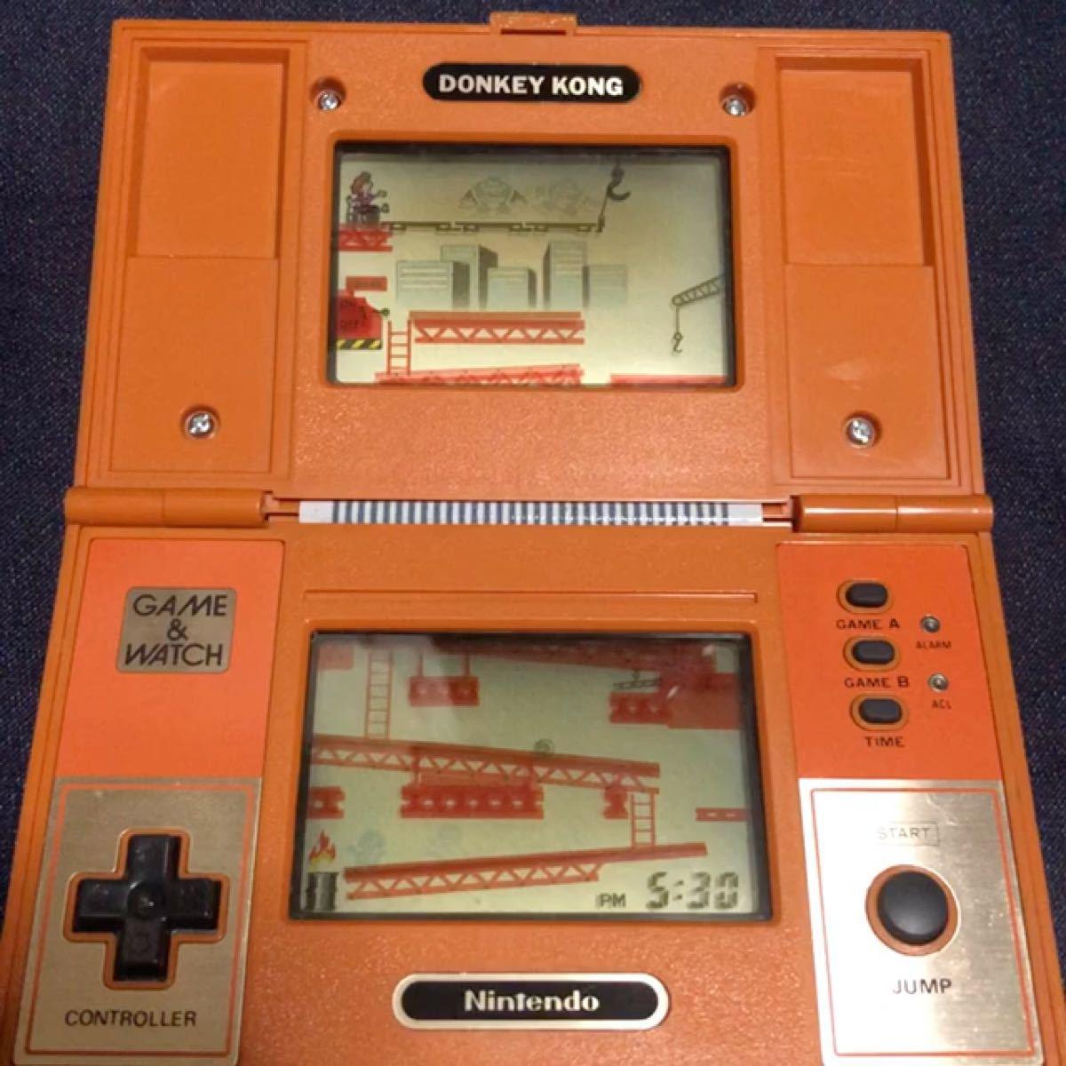 【希少】ドンキーコング ゲームウォッチ 昭和レトロ GAME&WATCH 任天堂ゲーム DONKEY KONG 新品電池付き