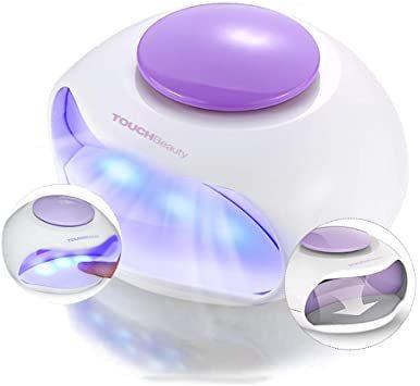 パープル TOUCHBeauty ネイルドライヤー UV ネイルライト 小型 マニキュア用 UVライト ファン付き 自動オン/オ_画像1