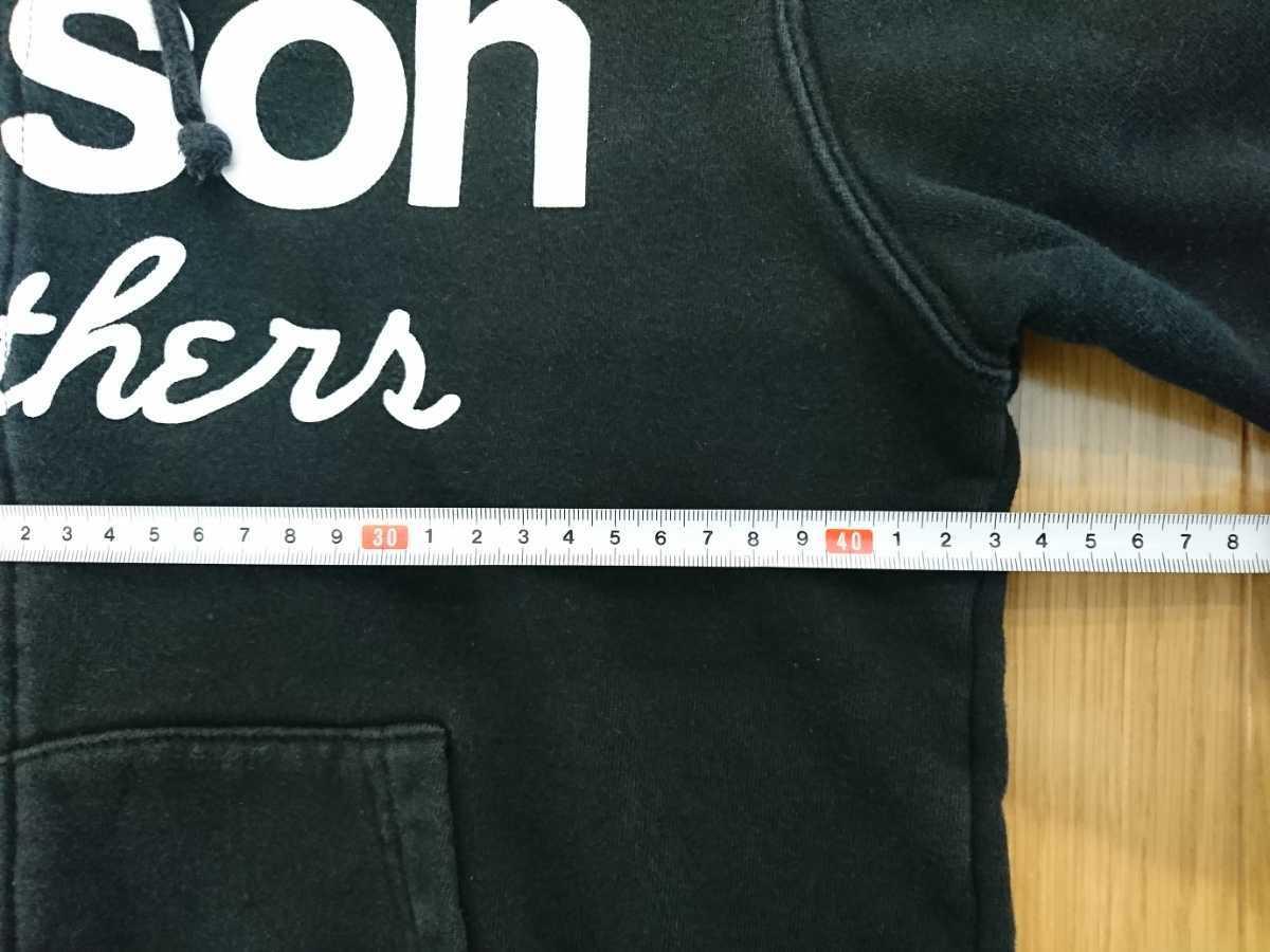 VANSON バンソンスウェットパーカー 黒色 Sサイズ(小さめ) タイトシルエット 着用感 激しい色落ちあり 検索 ハーレー アメリカンバイカー_画像7