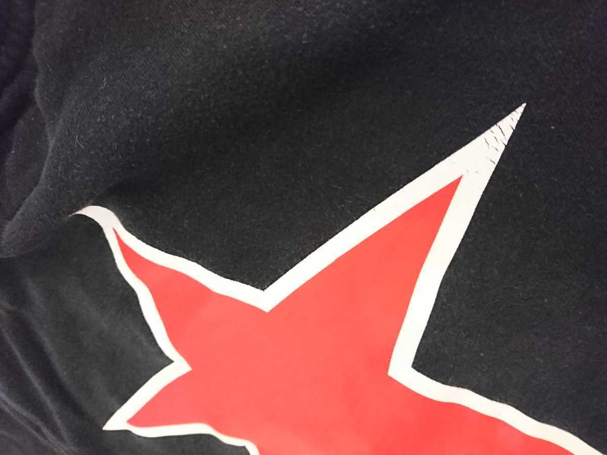 VANSON バンソンスウェットパーカー 黒色 Sサイズ(小さめ) タイトシルエット 着用感 激しい色落ちあり 検索 ハーレー アメリカンバイカー_画像10