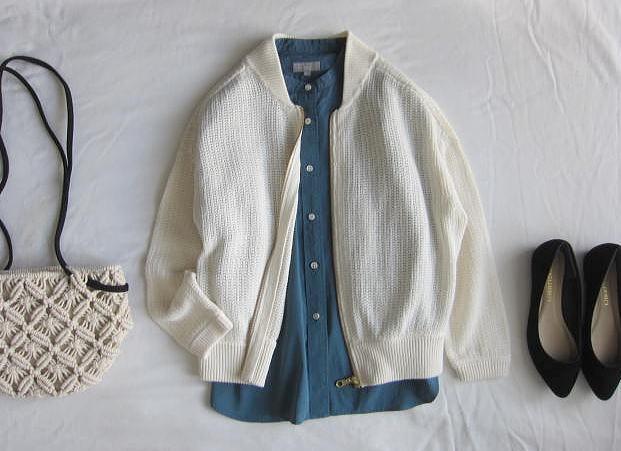 ◆プラステ  PLST 美品 リネン サマーニット ジャケット 羽織_画像1