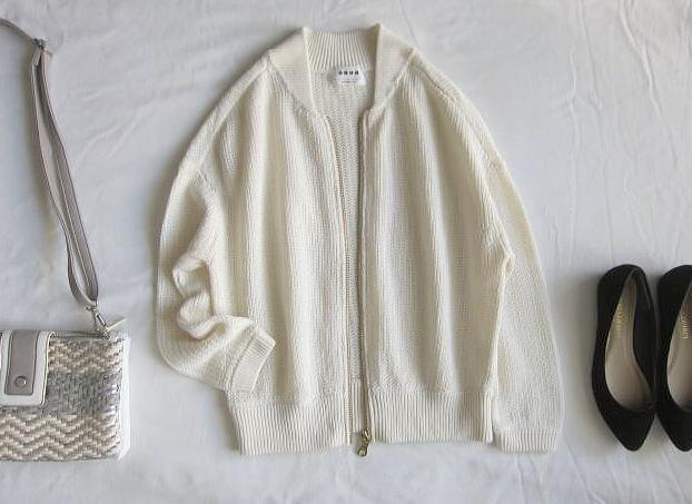 ◆プラステ  PLST 美品 リネン サマーニット ジャケット 羽織_画像2