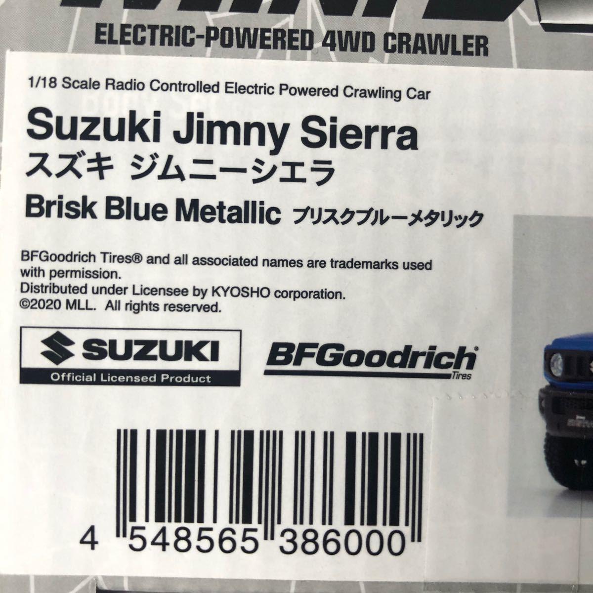 京商 1/18 スズキ ジムニーシエラ ブルーメタリック MXB03MBボディセット☆ミニッツ 4×4☆