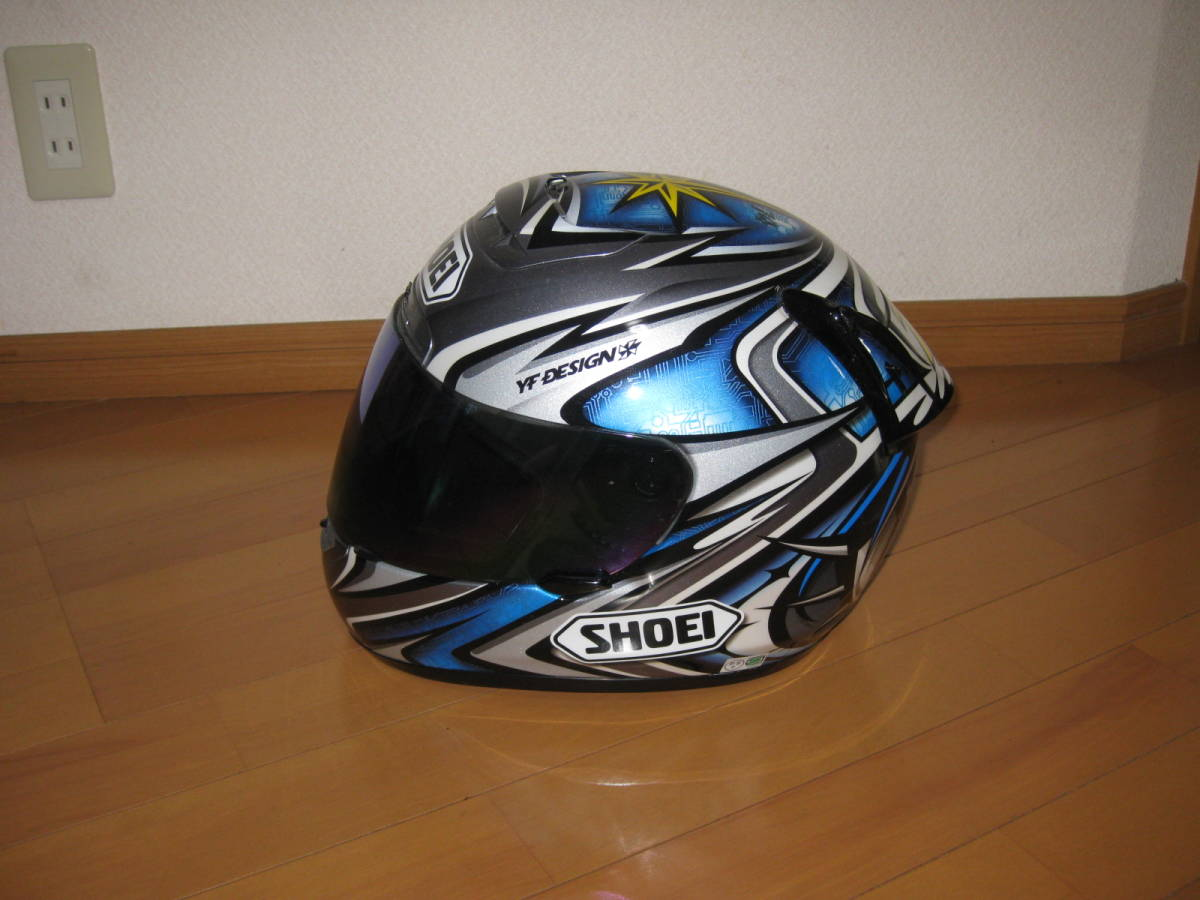 SHOEI ショウエイ 加藤大治郎 レプリカ フルフェイス ヘルメット Daijiro 74 X-Eleven Lサイズ _画像3