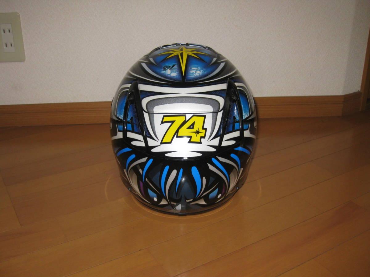 SHOEI ショウエイ 加藤大治郎 レプリカ フルフェイス ヘルメット Daijiro 74 X-Eleven Lサイズ _画像4