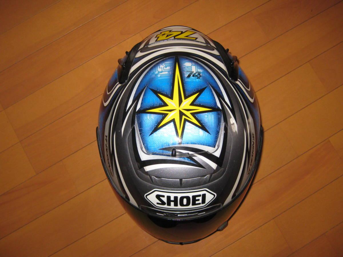 SHOEI ショウエイ 加藤大治郎 レプリカ フルフェイス ヘルメット Daijiro 74 X-Eleven Lサイズ _画像6
