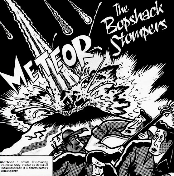 """限定盤!!! レア盤!!! ★ 廃盤 EP 7"""" ★ Bopshack Stompers / METEOR ★ メロディアス ネオロカビリー Slap Bass!!! Neo Rockabilly"""