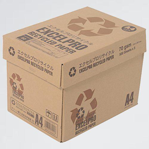 新品 好評 再生コピ-用紙 APP Y-JE 紙厚0.09mm 2500枚(500枚×5冊) エクセルプロリサイクル A4 白色度82% 古紙100%_画像1
