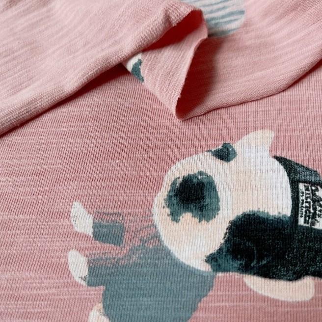 ドット柄 スラブTシャツニット 生地 ハンドメイド 布 はぎれ ハギレ イヌ 犬 フレブル 犬服 ドッグウェア ニット生地 ニット