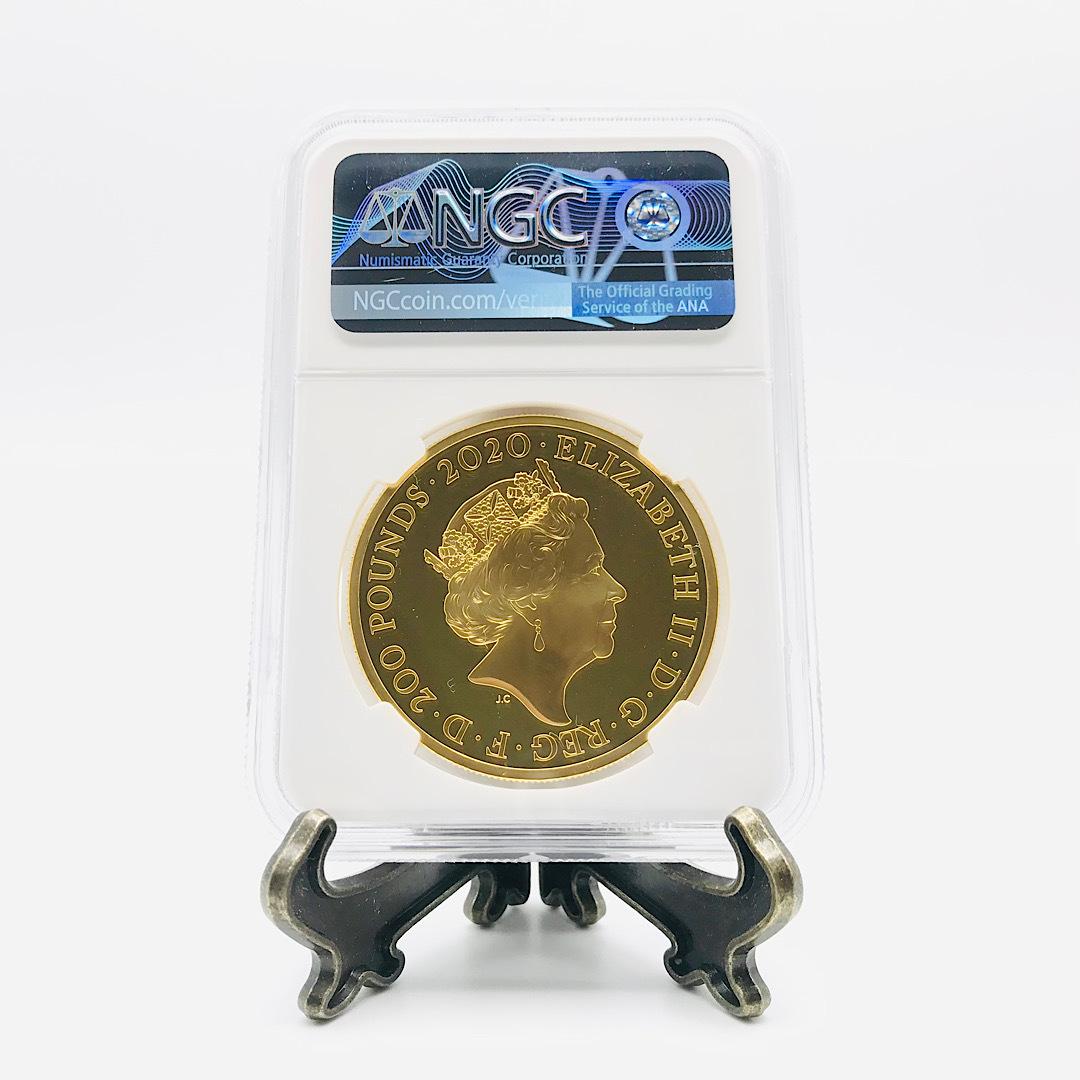 ★最高鑑定★ 007 ジェームズ・ボンド 200ポンド 2020年 英国 第3貨 2オンス NGC PF70 ウルトラカメオ 金貨 エリザベス_画像5