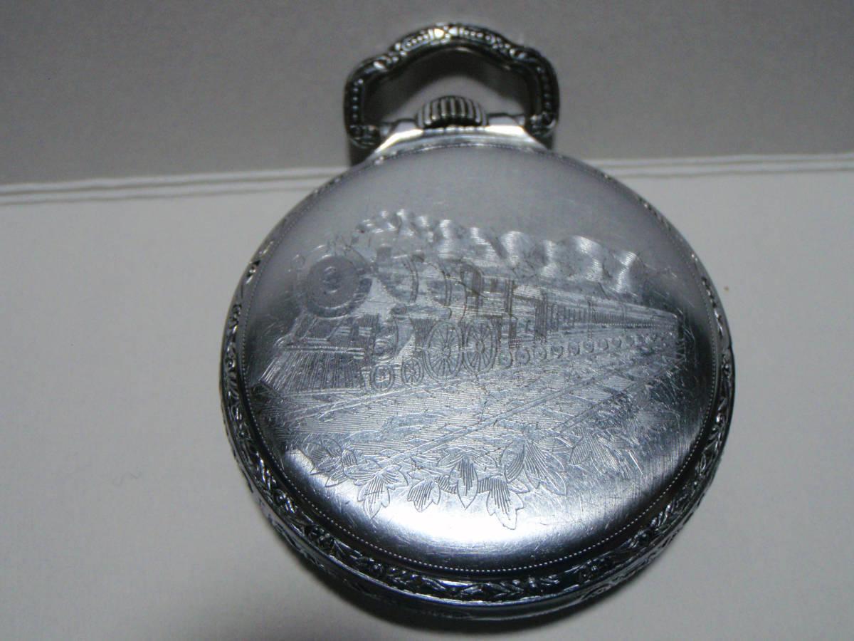 ELGIN 希少モデル モンゴメリーダイヤル懐中時計  鉄道時計 錫製ケース? _画像10