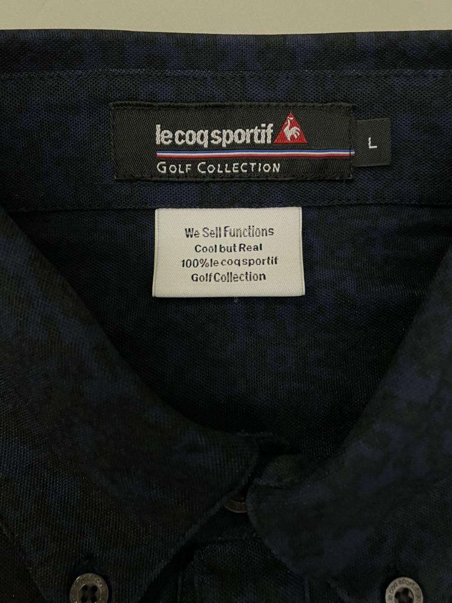 ルコック le coq sportif ルコックスポルティフ 【良品】 ゴルフウェアー メンズ Lサイズ 半袖 ドライポロシャツ_画像6