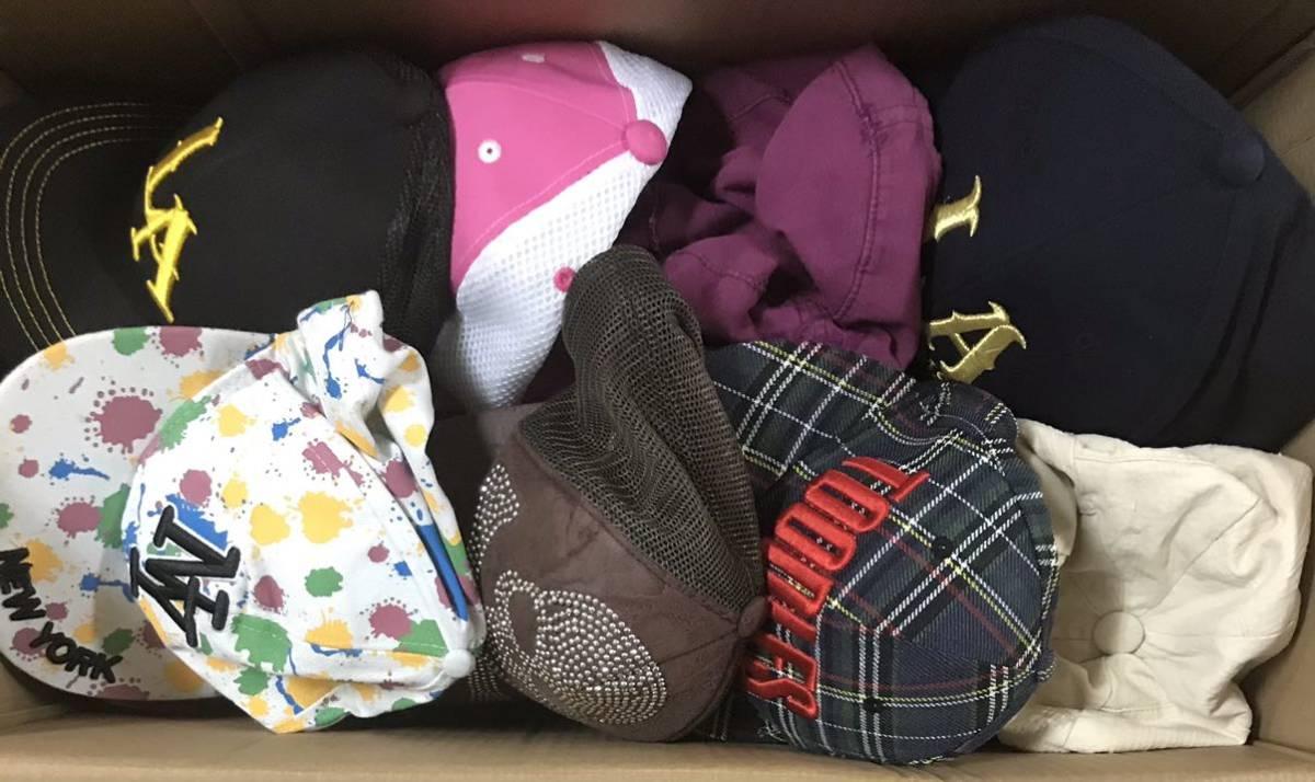 050602☆1円スタート 帽子 キャップ 大量まとめ hat men's lady's kids mix ストリートファッション スポーツ 男女 子供用 いろいろ_画像3