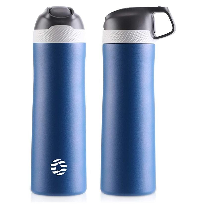550ml 水筒 真空断熱 直飲み 広口 保温 保冷 両用 ステンレスボトル