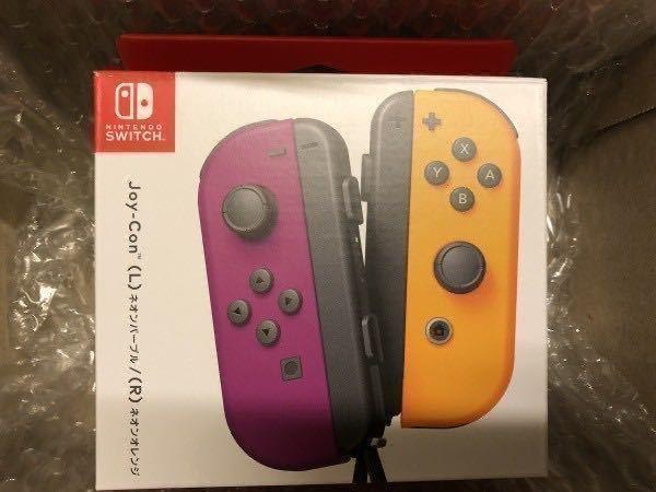 ★即決 新品未開封 送料無料★ Joy-Con ジョイコン 箱入 スイッチ コントローラー ネオンパープル(L)/ネオンオレンジ(R) Nintendo Switch