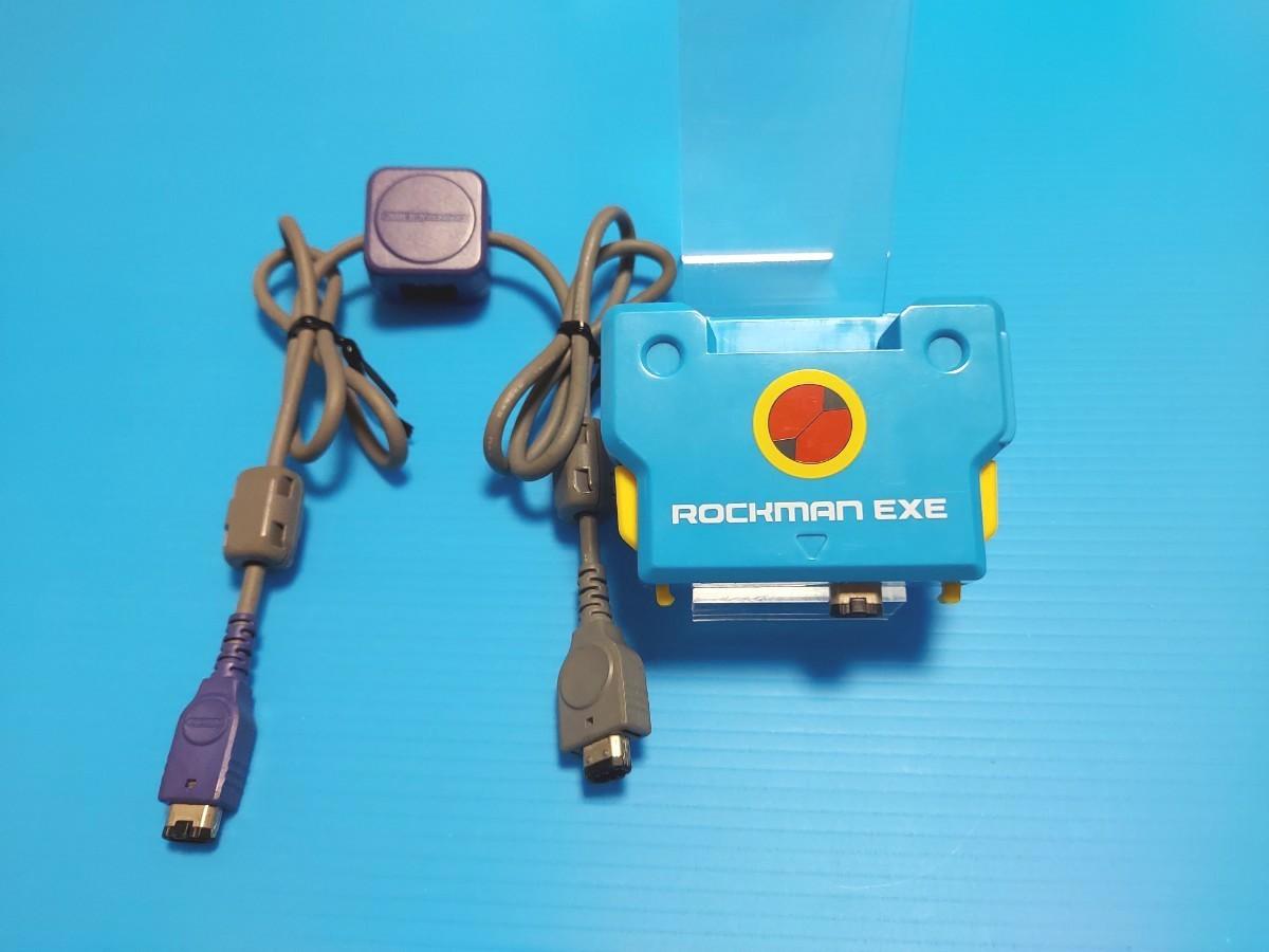 GBA ゲームボーイアドバンス ロックマンエグゼ バトルチップゲート ロックマンver & 通信ケーブル AGB-005