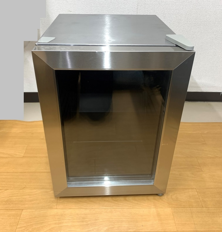 EAST ノンフロン電気冷蔵庫 MR-ST23 右開き 23L テンレス ガラス 冷蔵庫 小型冷蔵庫 ミニ冷蔵庫 アズマ _画像1