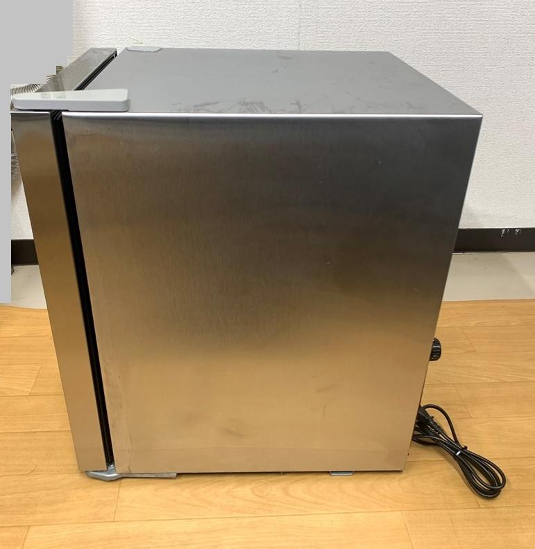 EAST ノンフロン電気冷蔵庫 MR-ST23 右開き 23L テンレス ガラス 冷蔵庫 小型冷蔵庫 ミニ冷蔵庫 アズマ _画像4
