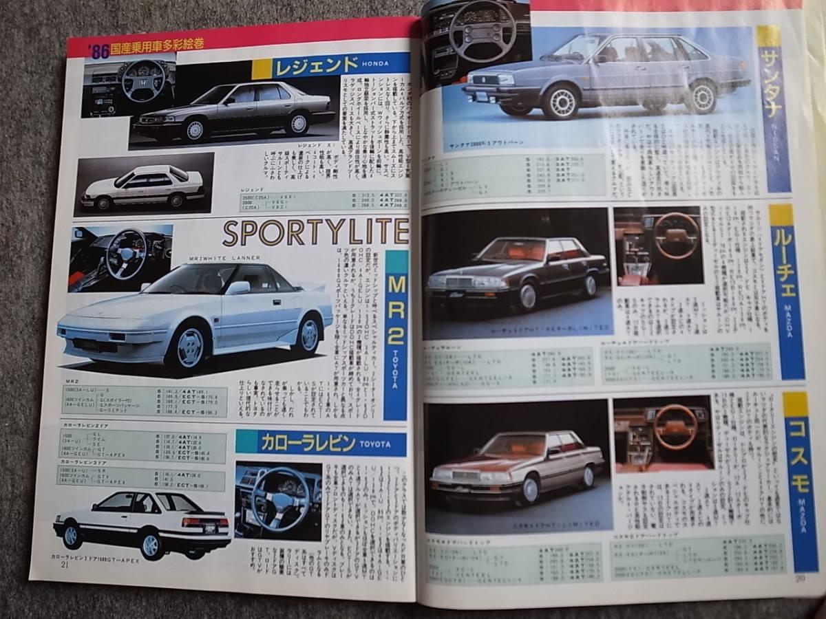 月刊 自動車 1986年臨時増刊 車種別総合えんま帳_画像4