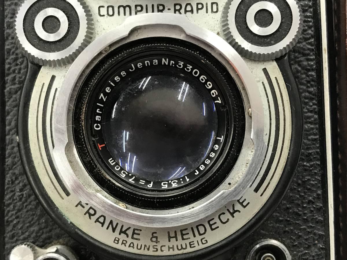 ROLLEIFLEX ローライフレックス COMPUR RAPID FRANKE & HEIDECKE 二眼レフカメラ ケース付 fah 4H568S_画像10